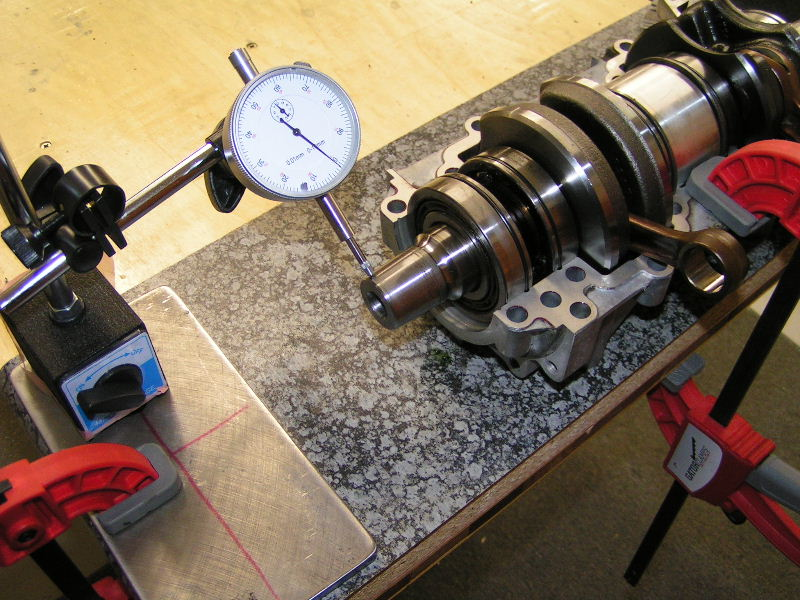 how to check crankshaft end play with feeler gauge