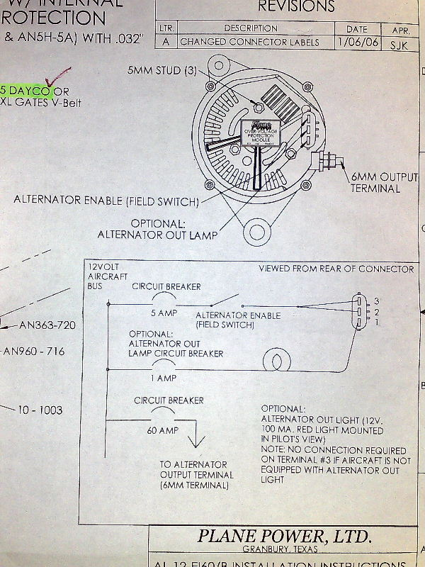 rv alternator wiring diagram rv image wiring diagram wiring an planepower 60a altenator vaf forums on rv alternator wiring diagram
