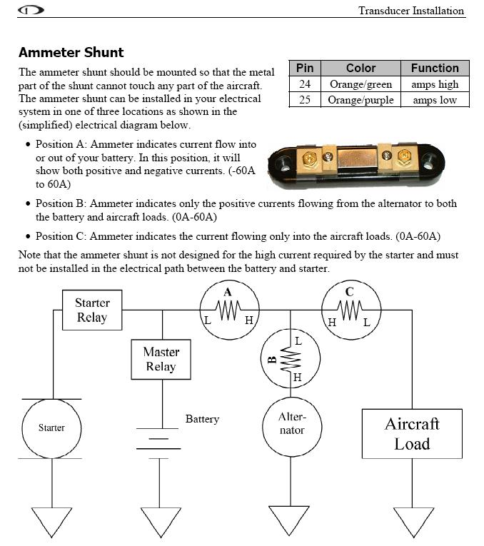 Aircraft ammeter shunt wiring diagram example electrical wiring ammeter shunt help me connect the dots vaf forums rh vansairforce com sunbeam tiger ammeter wiring diagram current shunt wiring swarovskicordoba Images